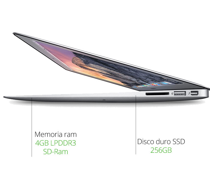 memoria y disco APPLE MACBOOK AIR